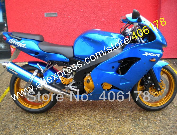 Hot Sales,Free Custom Fairing for KAWASAKI Ninja ZX-9R 98-99 ZX9R ZX 9R 9 R 98 99 1998 1999 All Blue ABS Motorcycle Fairing Kit custom motorcycle fairing kit for kawasaki ninja zx9r 1998 1999 zx9r 98 99 black flames blue abs fairings set 7 gifts sg10