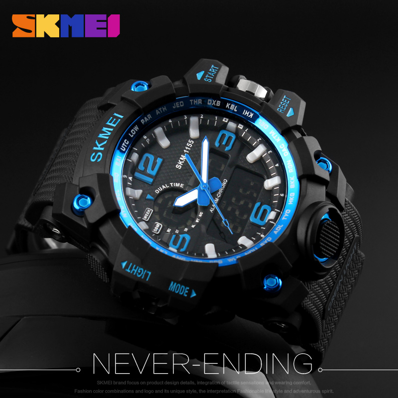 SKMEI New S Shock Heren Sport Horloges Grote Wijzerplaat Quartz - Herenhorloges - Foto 5