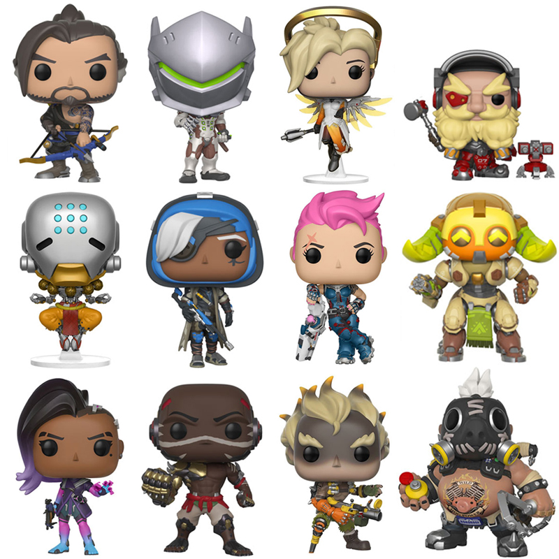 Over Game Watch OW DVA Genji Mercy Ana Torbjorn Sombra JunkRat ROADHOG Orisa Action Figure Model PVC Anime Game Doll Toys Gift saintgi ow reaper genji soldier 76 pvc 25cm game action figure model kids toys gifts collection in stock