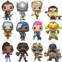 Over Game Watch OW DVA Genji Mercy Ana Torbjorn Sombra JunkRat ROADHOG Orisa Action Figure Model PVC Anime Game Doll Toys Gift