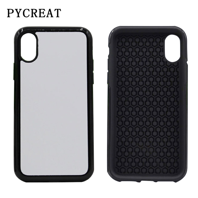 timeless design 32cae e8a97 US $112.14 11% OFF|For iPhone X Case 2 in 1 Sublimation Case For iPhone X  Cover Heat Transfer Printed Blank Sublimation Cover 2 in 1 Fundas 50pcs-in  ...