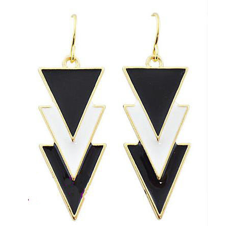 Fashion Women Jewelry New Trigonometric Geometry Oil Drop Earrings Charms ABC