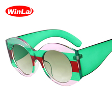 Winla Fashion Design Women Sunglasses Round Lens Sun Glasses Female Shades Elegant Ladies Eyewear Classic Gafas UV400 WL1220