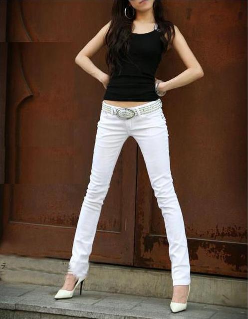 1b7bb47e37 Woman summer plus size solid Low cotton Pencil Pants female spring oversized  thin zipper pocket button