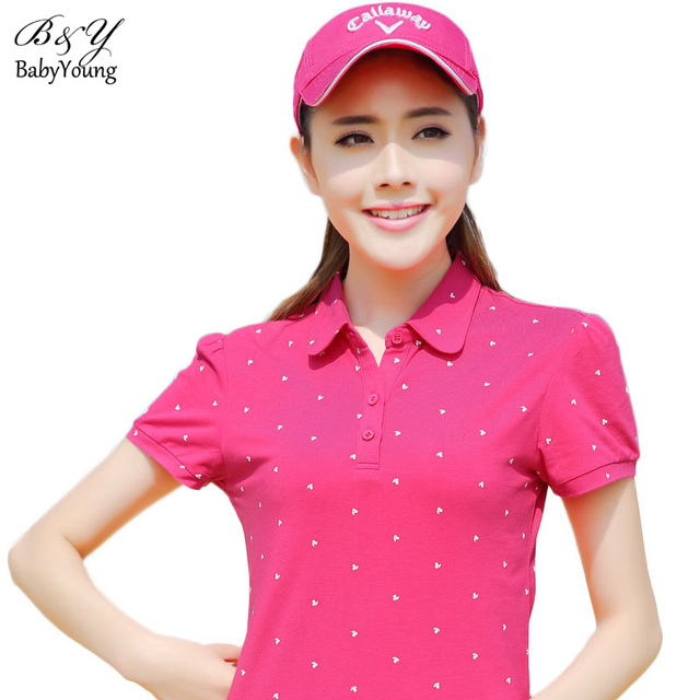 Spring Polo Femme Polo Shirts Fruit Pattern Printing Lapel Sportswear Button Plus Size M-4XL Cotton Female Clothing