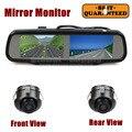 DIYKIT Двойной 4.3 дюймов Экран Зеркало Заднего Вида Автомобиля Монитор с 2 х CCD Автомобильная Камера Заднего вида для Заднего/Переднего/Сбоку Камеры