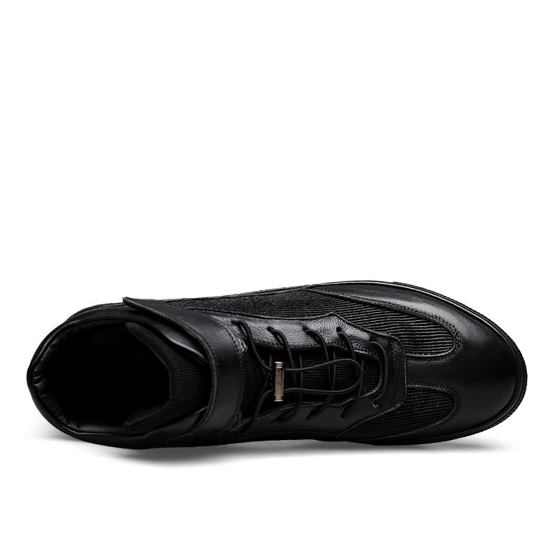 Calzado Hombre Chaussures Top Confortable Occasionnels Noir Cuir Mode Deportivo Ramialali Sneakers Design Véritable Hommes De High w7qAX74Cx6