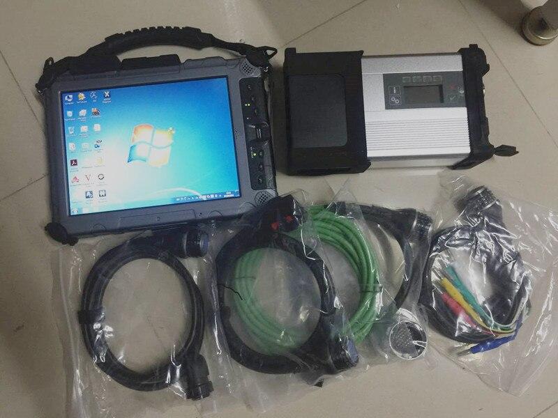 Stella di mb attrezzo diagnostico professionale mb sd c5 con il computer portatile ix104 i7cpu 8 gb tablet installare 2019.03 v ssd software con dts xentry
