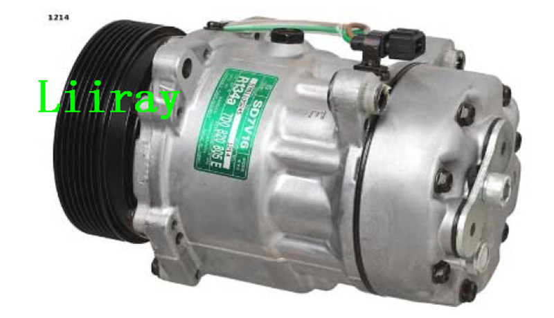 Liiray Auto ac compressor for VW T4/2.8VR6 Transporter (97-02) 70B820805A 70B820805F 7V16 7pk 120m