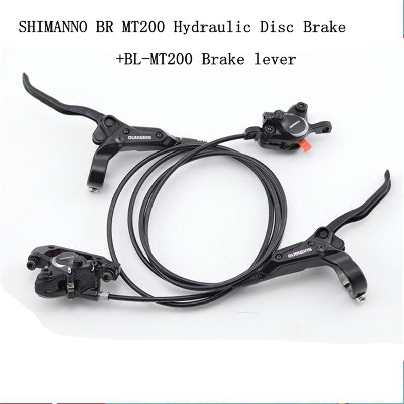 Jeu de freins à disque hydrauliques SHIMANO MT200 avant 800mm arrière 1550mm frein à VTT pression d'huile frein à disque frein vtt