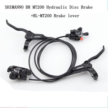 SHIMANO MT200 Hydraulic Disc Brake Set Front 800mm Rear 1550mm mountain bike Brake Oil Pressure Disc Brake MTB Brake electric bike hydraulic brake disc set harley scooter front and rear wheel brake and the rear seat with seat back seat bracket