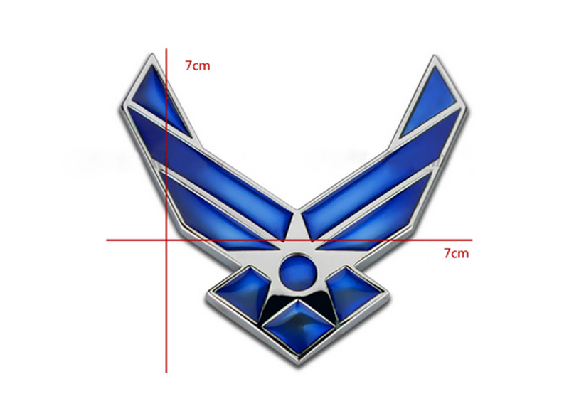 DSYCAR 3D Metal US Air Force Car sticker Logo Emblem Badge Car Styling for Fiat Bmw Ford Honda volkswagen Audi toyota opel DS VW 1