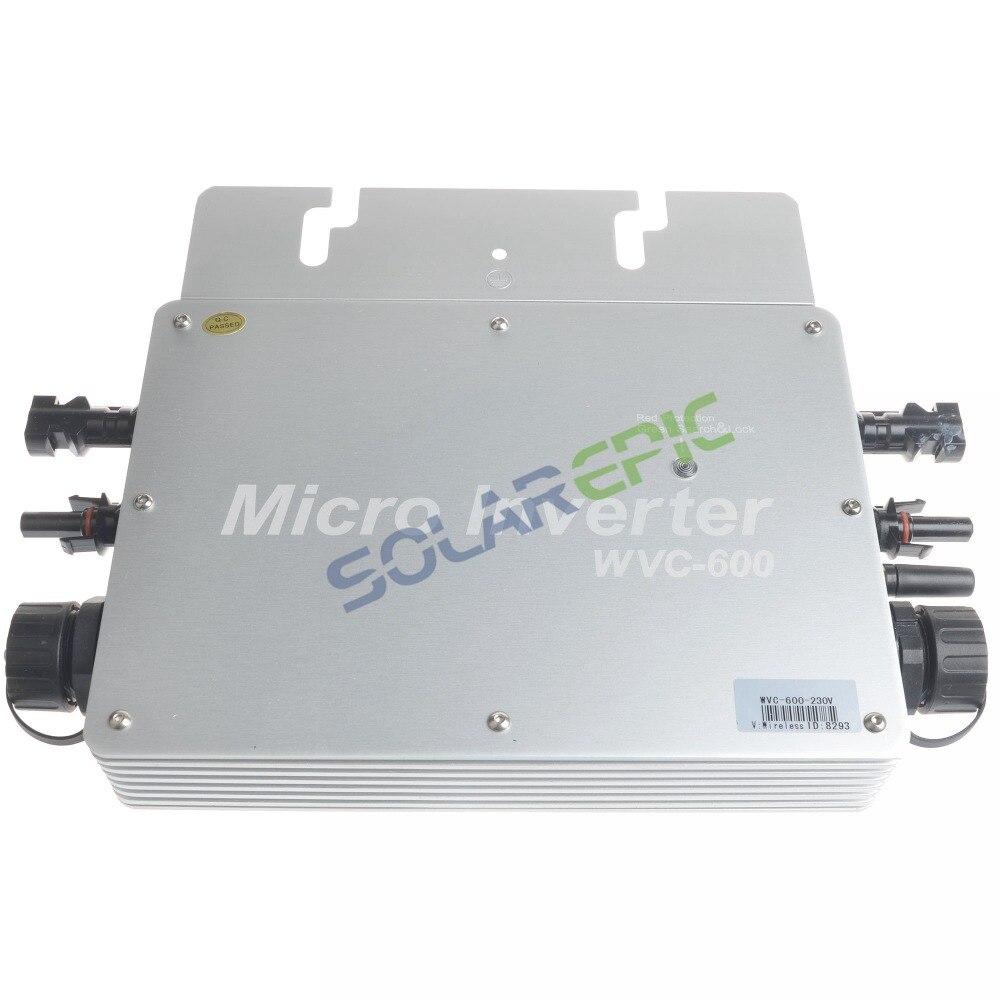MPPT 600W Waterproof Grid Tie Inverter DC22-50V Pure Sine Wave Inverter 110//220V