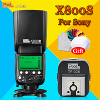 PXIEL X800S Standard 60GN S1/S2 TTL 1/8000s Wireless Flash Speedlite &TF 336 Hotshoe Adapter with PC Port For Sony DSLR Cameras