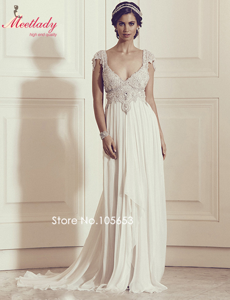 Vintage lace sweetheart neck backless beach wedding dress for Beach wedding dresses 2017