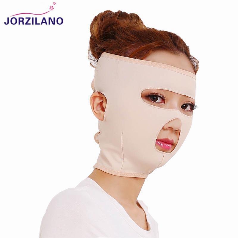 JORZILANO Women Full Face V Face Line Belt Strap Bandage Chin Cheek Slim Lift Up Anti Wrinkle Mask Slimming Thin Facial Mask v line lift up cc cream secret kiss где