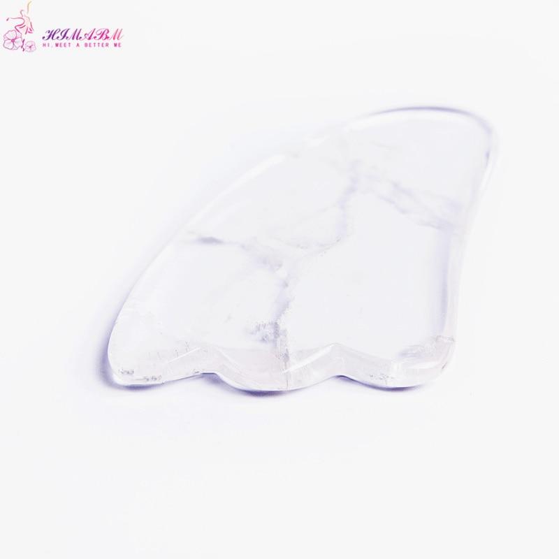 HIMABM  1pcs Professional Natural Crystal Gua Sha Guasha Board Face Body SPA Massage Scraping Therapy Tool