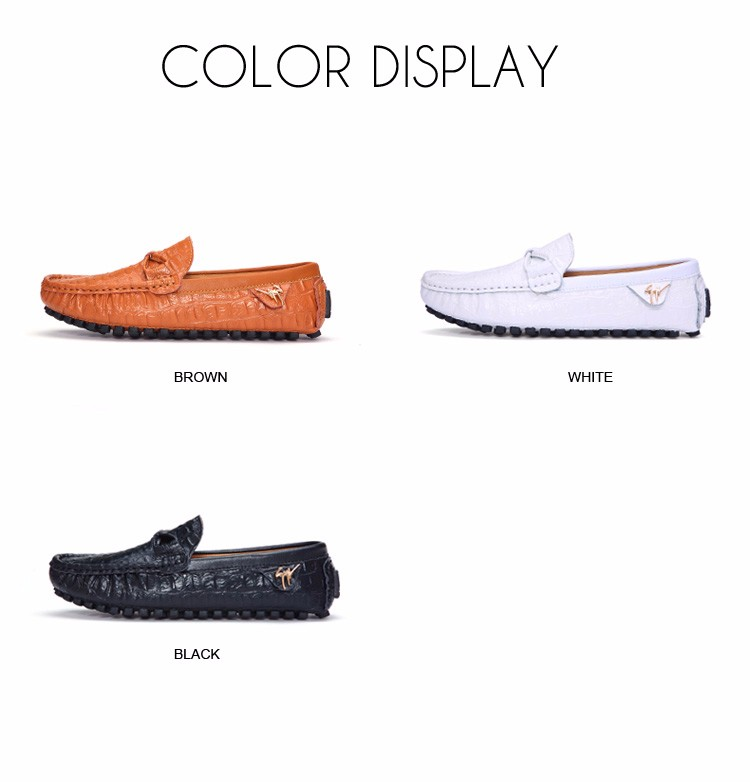 2016 KUYUPP Fashion Genuine Leather Men Loafers Casual Slip On Flats Summer Flat Heels Men Driving Shoes mocassin homme H48 (4)