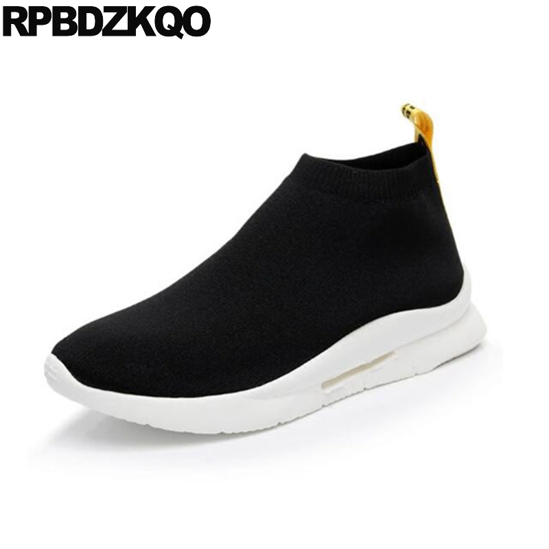 Designer Knit Rubber Slip On Fashion Brand Italian Men Shoes Brands