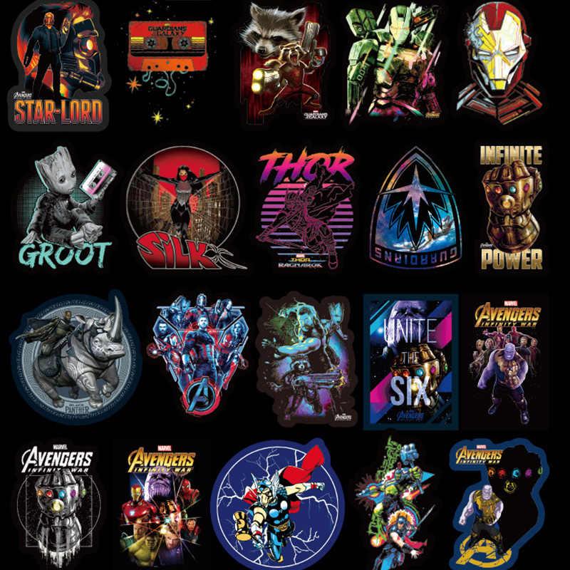 108Pcs Marvel Avengers Kartun Stiker Tahan Air untuk Laptop Moto Skateboard Tas Gitar Furnitur Decal Mainan Stiker