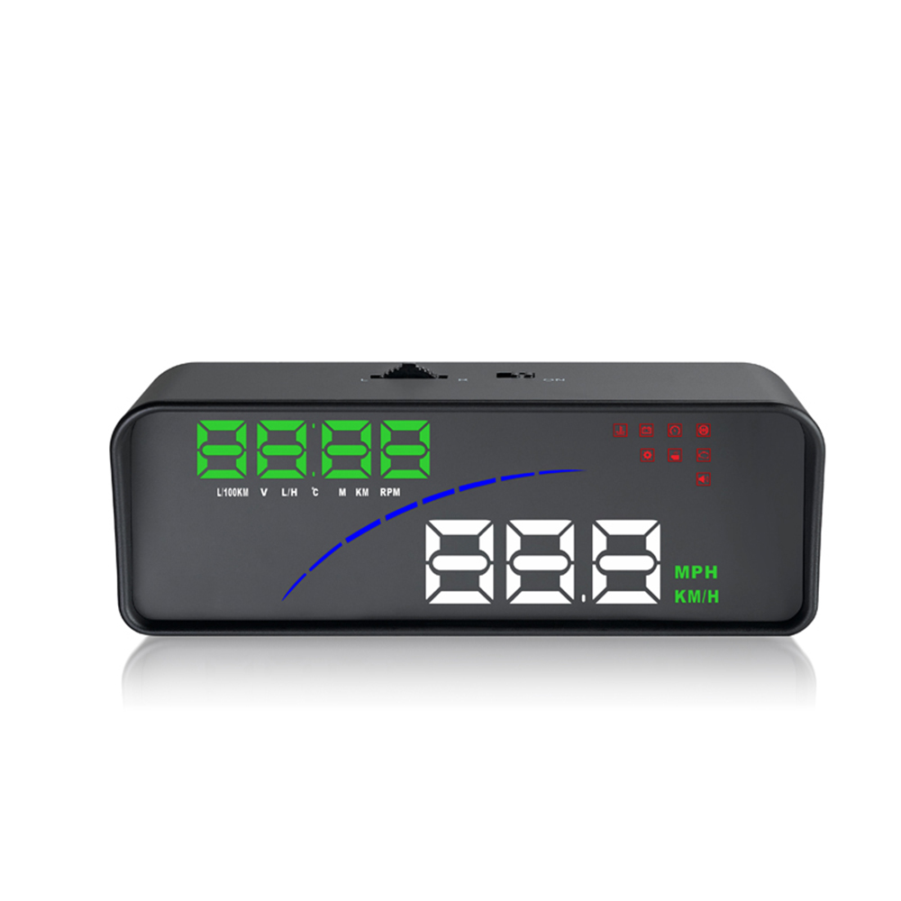 Car Electronics HUD Smart Digital Meter Auto OBD2 Head Up Display Windshield Projector Alarm System Plug And Play DY134