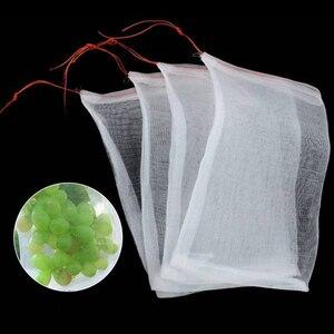 Image 5 - 100 פירות הגנת שקיות פירות וירקות ענבים נטו תיק Multi פונקצית תיק חרקים הוכחה חרקים דוחה לשימוש חוזר פירות Pl