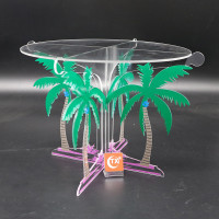 Hawaii Wedding Supplies Table Decoration Ornaments Acrylic Coconut Cake Stand Dessert Snack Cake Rack Cake Holder