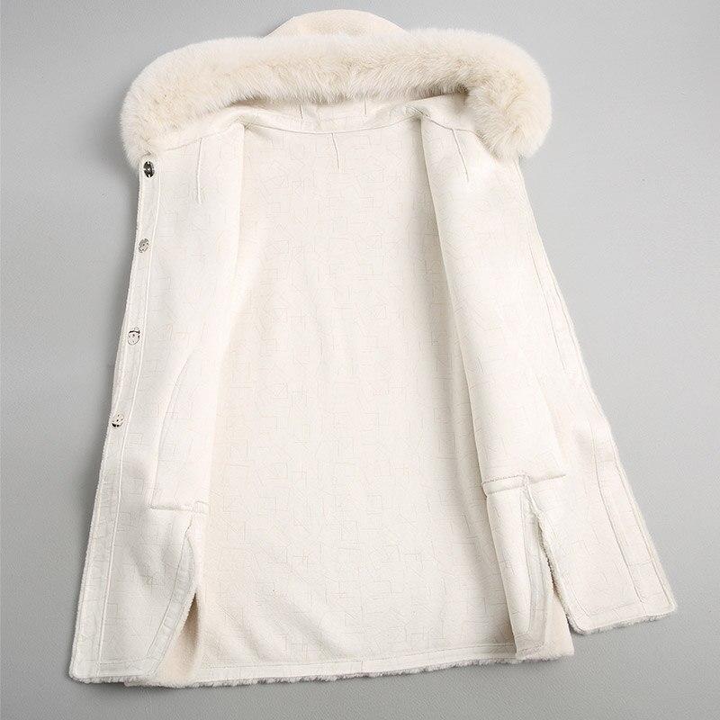 100 Mujer Automne Laine Renard Manteaux Des Manteau Long Col White Capuchon Cream Réel My2057 Femmes À De Fourrure Abrigo Coréenne Hiver Veste zUBnqxgwv