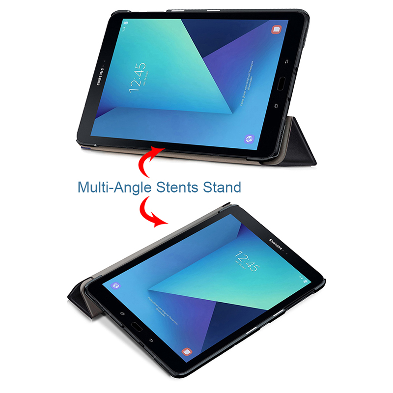 MTT Blasting Wallhole Print PU Leather Case for Samsung Galaxy Tab S3 9.7 inch T820 T825 Stand Smart Tablet Protective Cover