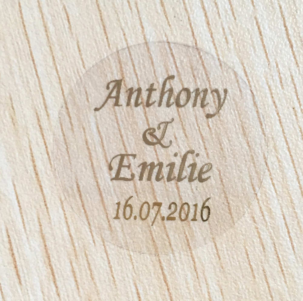 90pcs 30mm customize Personalised clear Wedding birthday anniversary ...
