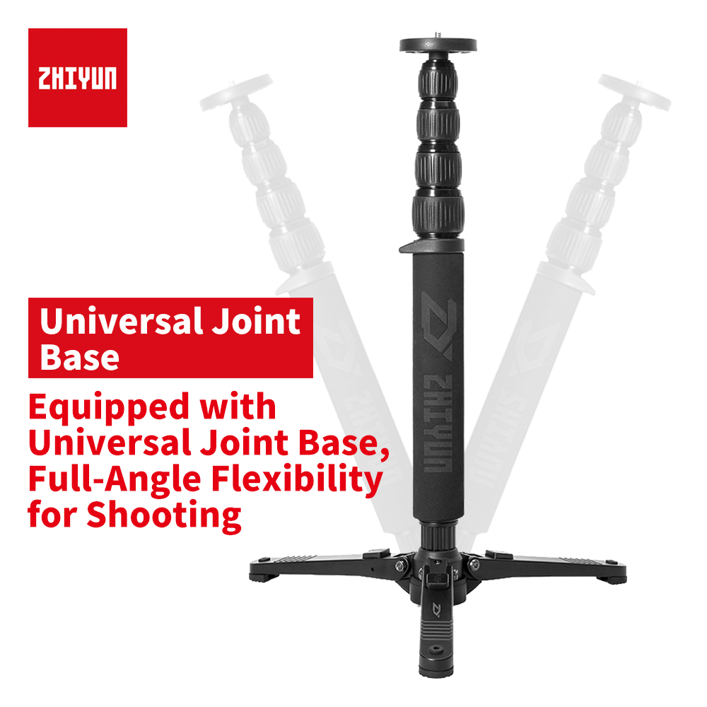 zhi yun NEW Zhiyun UNN01 Telescopic Monopod Table Tripod support for Zhiyun Crane 2 Handheld Gimbal with 1/4 Mounting Screw ld7552dps ld7522ps ld1010d