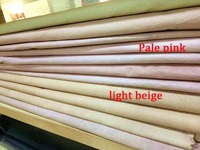 Pale Pink Genuine Pig Grain Skin Leather Material Sale By Whole Piece