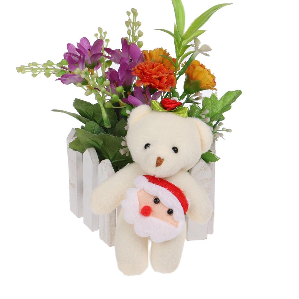 Christmas Gift Bear Plush Toys Small Mini Phone Key Pendant