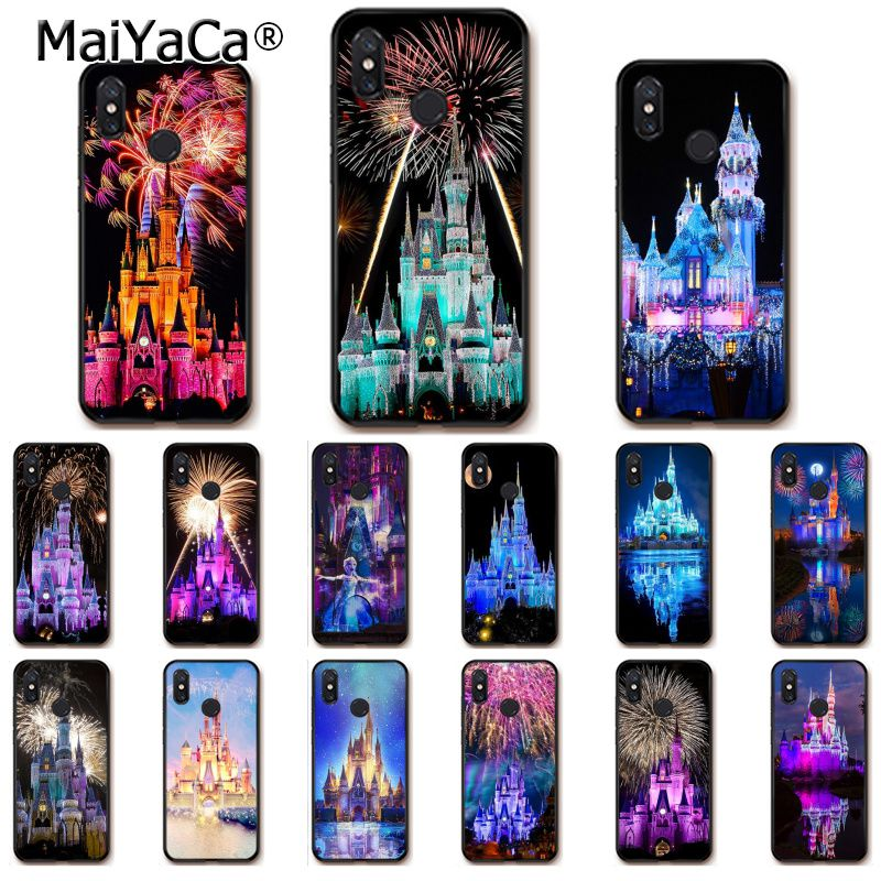 100% Quality Maiyaca World Cinderella Castle Fireworks Soft Phone Case For Xiaomi Redmi 5 5plus Note4 4x Note5 6a Mi 6 Mix2 Mi8 Lite Moderate Price