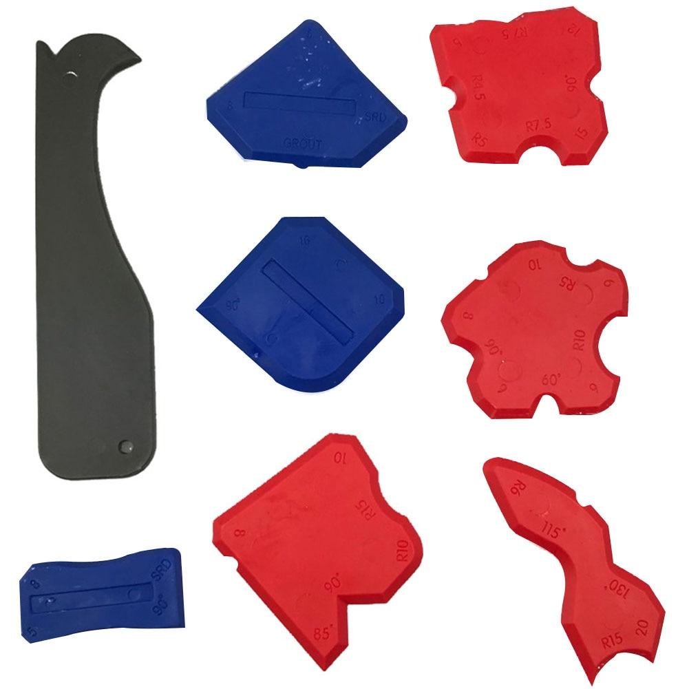 8 Pcs Tool Smoothing Silicone Sealant Profile Line Home Caulk Remover Caulking Multifunction Shovel Glue Finishing Joint Corner