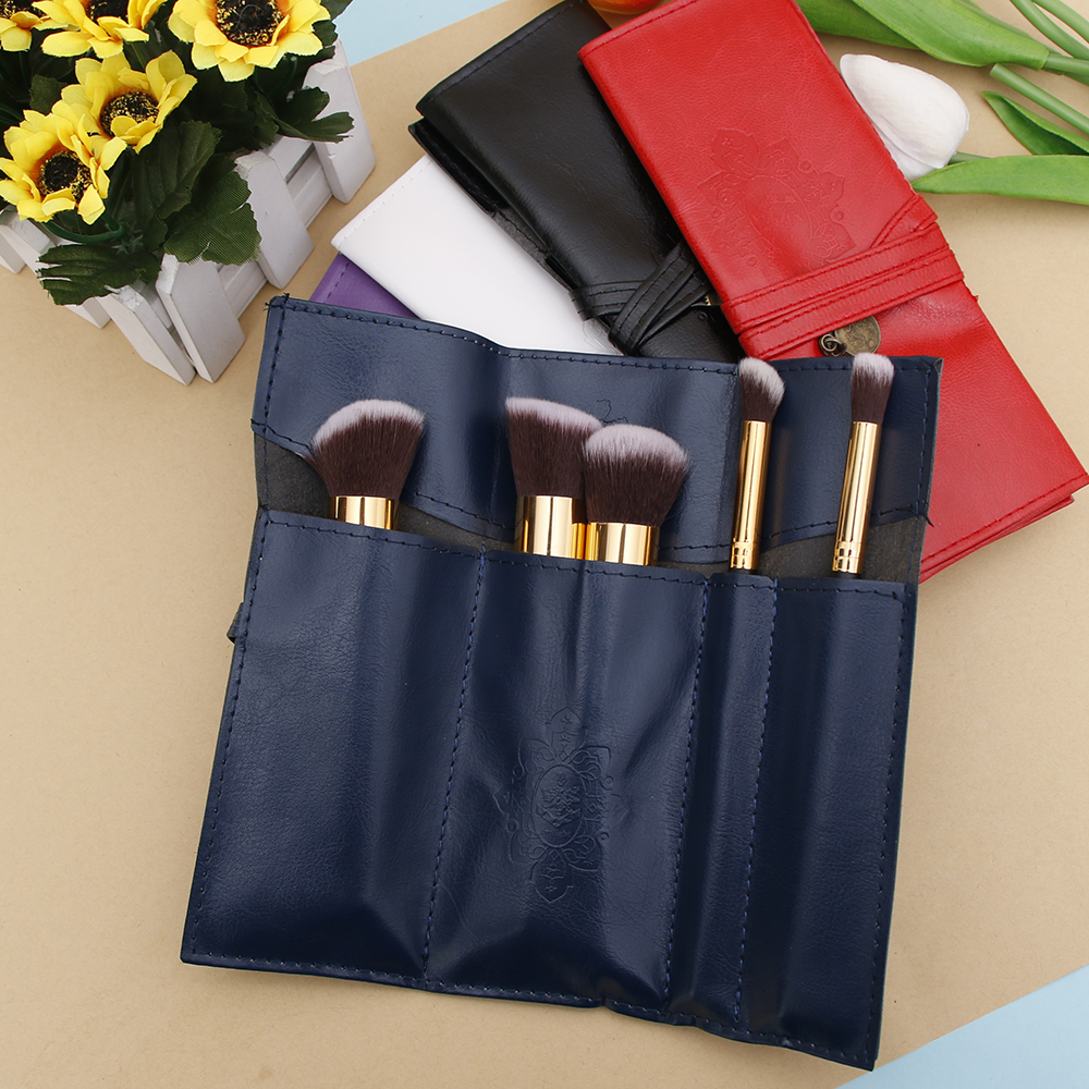 Women Makeup Brushes Bag Vintage Cosmetic Bag Twilight Kit Pens PU Leather Travel Make U ...
