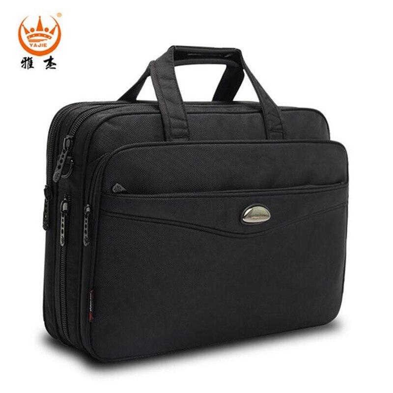 YAJIE Business 15.6 inch Handbags Men Briefcase Shoulder Bag Wear-resisting Nylon Notebook Computer Laptop Sleeve Bags L056