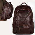 Men cowhide genuine leather male Large Capacity Backpack Daypack