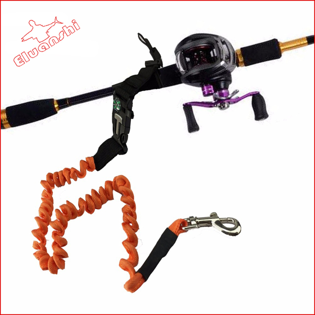 elastic fly fishing retention safety rope lanyards boating rod ropes sea non-slip handle security tackle tools for accessories