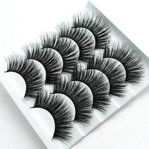 Image 3 - HBZGTLAD 1/5 pairs natural false eyelashes fake lashes long makeup 3d mink lashes eyelash extension mink eyelashes for beauty