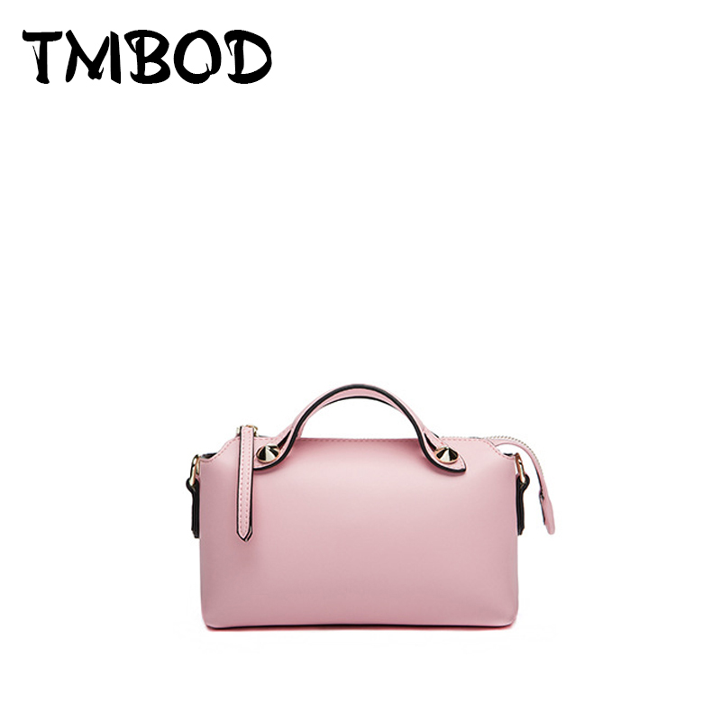 Hot 2018 Famous Brands Classic Small Tote Women Split Leather Handbags by the way Lady Bag Messenger Bag For Female an340 hot 2017 classic scrub tote with chain box tote crossbody bags women split leather handbags lady messenger bag for female an868