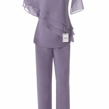 Fashion Chiffon Mother of the Bride Pants suit 2PC Outfit Gr