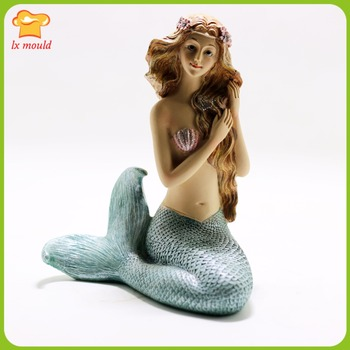 2018 new LXYY MOULD Mermaid Candle Silicone Mold American Wedding Silicone mould