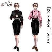 Готическая Лолита комплект оригинальный дизайн Harajuku мальчик Лолита японская одежда Набор Косплей Рубашка Брюки темно Алиса серии