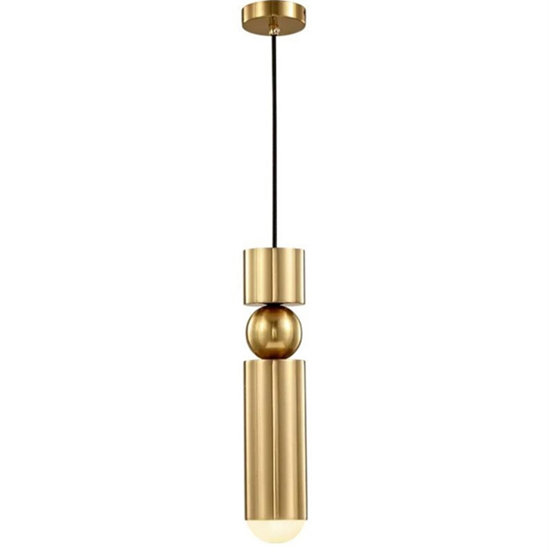 LukLoy Kitchen Pendant Light Bedside Gold Black Silver Tube Hanging Lamp Bar Counter Kitchen Island Suspension Lighting Fixtures