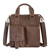 Cross border for leather men business briefcase mad horse skin retro single-shoulder oblique satchel mens bag 1208