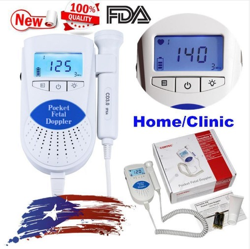 USA&China FDA Baby Heart Beat Monitor, 3Mhz probe Fetal Dopler, Sonoline B+ Gel CONTEC sonoline b 3mhz fetal heart rate monitor free gel high sensitivity ultrasonic probe baby heart beat testing