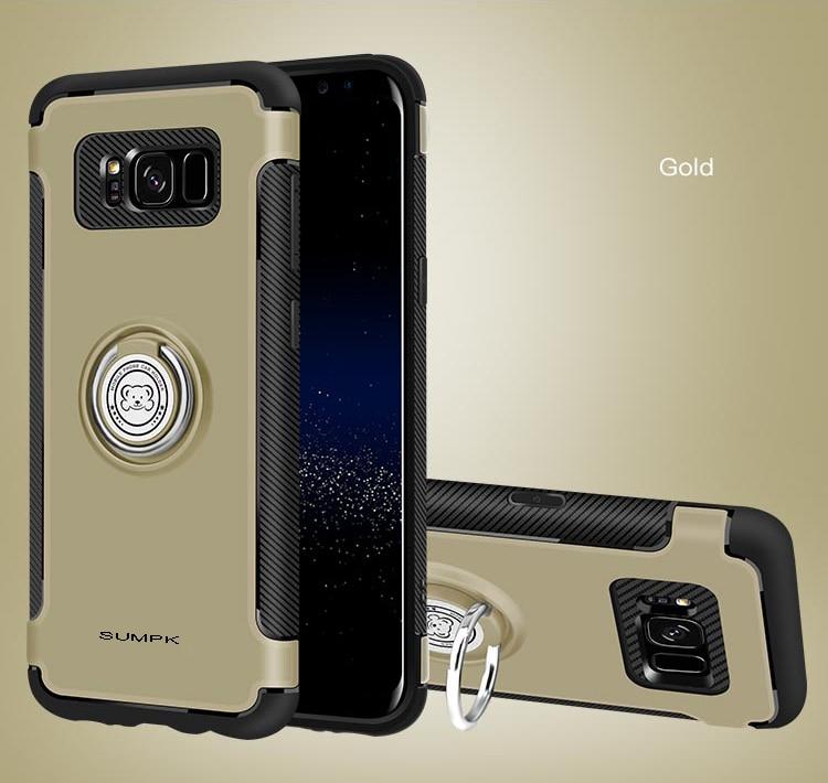 Kasus ponsel SUMPK untuk samsung s8 2 in 1 Magnetic car Holder Kasus - Aksesori dan suku cadang ponsel - Foto 5