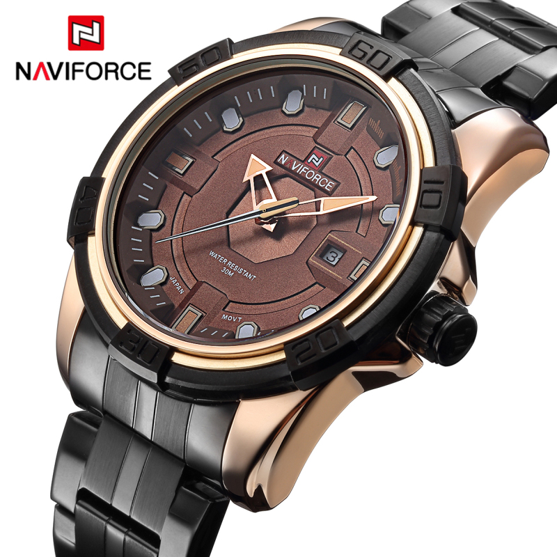 Top Luxury Brand NAVIFORCE Full Steel Army Military Watches Men's Quartz Hour Clock Watch Sports Wrist Watch relogio masculino watches men naviforce brand full steel army military watches men s quartz hour clock watch sports wrist watch relogio masculino