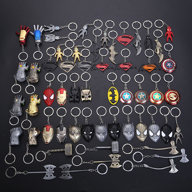 Toys Keyring Keychain Action-Figure Thor Batman Avengers Iron-Man Movie Captain-America